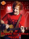 A4 Ed Sheeran Edible Icing or Wafer Birthday Cake Top Topper
